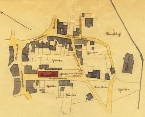 Lageplan des Hospitals, 1902