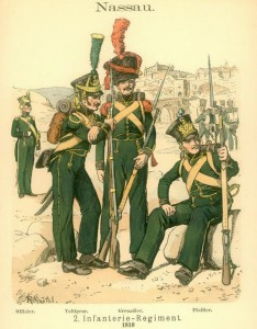 Uniformen des Herzoglich Nassauischen 2. Infanterie-Regiments, 1810