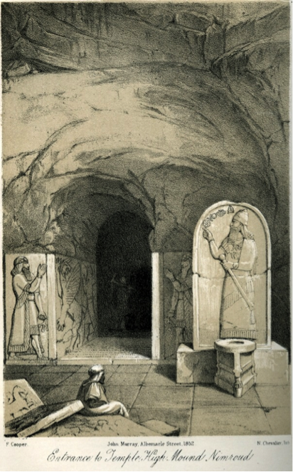 Stele of Assurnasirpal II ( Reign: 883-859 B. C.). In: Layard, A. H., Discoveries in the ruins of Nineveh and Babylon; with travels in Armenia, Kurdistan and the desert, London 1853, p. 350.