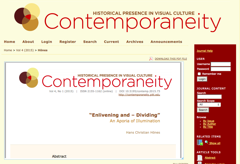 Contemporaneity, volume 4.1