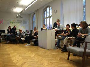 Zwischenpräsentation des Masterstudiengangs Advanced Design zum Thema Resilienz an der Hochschule München im Mai 2016