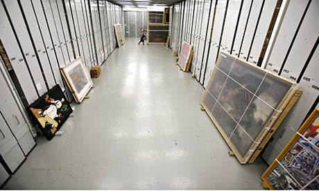 Hidden picture … the Tate's hi-tech storage warehouse. Photograph: David Levene for the Guardian