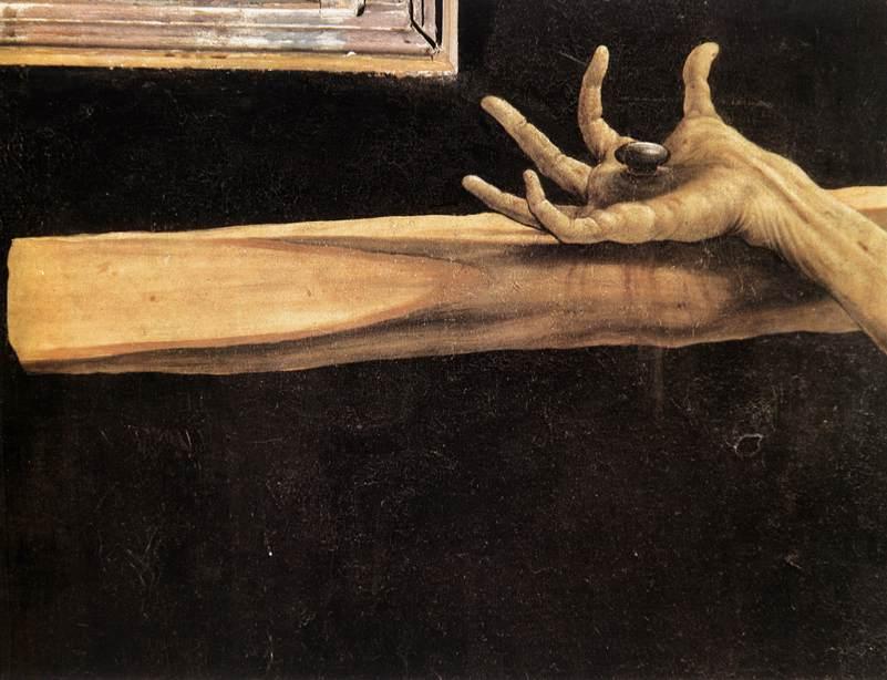 Retábulo de Isemheim: 1.ª abertura: detalhe da crucificação