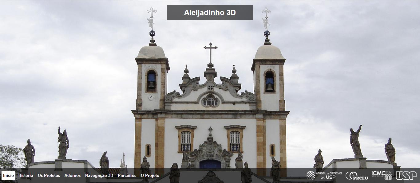 Aleijadinho 3D [sítio eletrónico]. página de acolhimento.