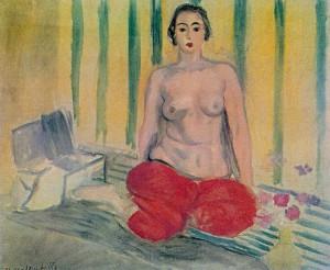 Odalisca de calças vermelhas Matisse, 1925.