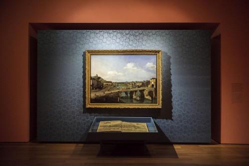 Vista da antiga ponte sobre o Pó, em Turim, de Bernardo Bellotto. Foto: Público, Sandra Ribeiro.