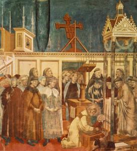 Instituição do presépio em Greccio Giotto di Bondone, 1297-1300 Assis, Basílica superior