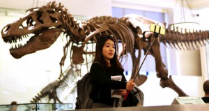 Selfie no American Museum of Natural History Foto: Hiroko Masuike/The New York Times