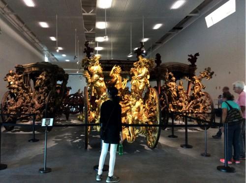 Coches dos Oceanos, do Embaixador e da Conquista de Lisboa Museu dos Coches Foto: MIR, maio 2015