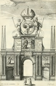 Arco dos mercadores alemães Hans Schorkens. In Lavanha, 1662.