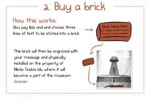 """""""Buy a brick"""" Nikola Tesla, 2012"""