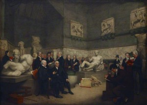 The temporary Elgin room Archibald Archer, 1819 Londres, The British Museum