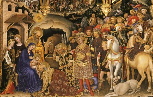 Adoração dos Magos Gentile da Fabriano, 1423 Florença, Galleria degli Uffizi