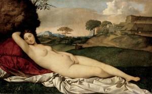 Vénus Adormecida Giorgione Dresden, Gemäldegalerie Alte Meister