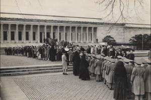 Entrada para a exposição Paintings from the Berlin Museums (mar.- abr. 1948) Washington, National Gallery Foto: Mia Stories