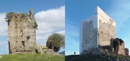 Torre de Matrera, antes e depois do restauro