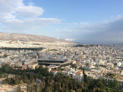 Museu da Acrópole em Atenas. Vista da Acrópole Foto: MIR, 2016