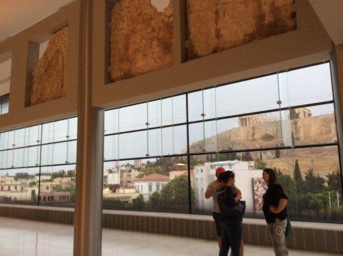 Vista do Pártenon, a partir do Museu da Acrópole Foto: MIR, 2016