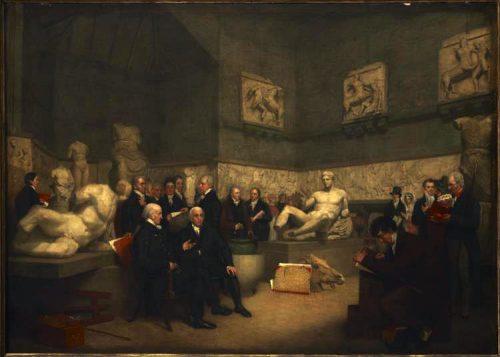 The Temporary Elgin Room Archibald Archer, 1819 Londres, Museu Britânico