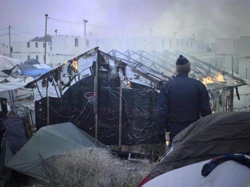 Campo de refugiados em Calais Foto: Ai Weiwei, 27 out. 2016