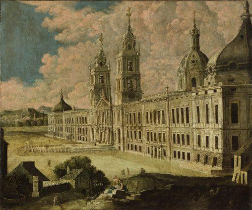 Palácio de Mafra, em meados do século XVIII Autor não identificado, anterior a 1755 Col. particular