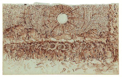 Campo de girassóis Vincent van Gogh (atrib.) 1889, Saint-Rémy Foto: Ed. du Seuil