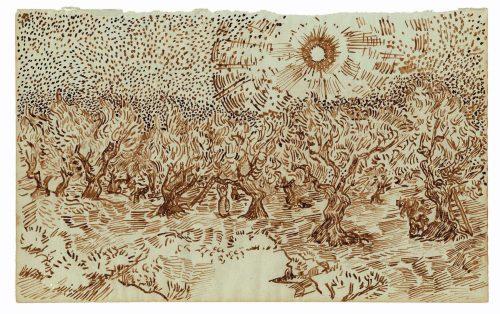 Olival e apanhadores de azeitona Vincent van Gogh (atrib.), julho ou agosto de 1889, Saint-Rémy Foto: Édition du Seuil