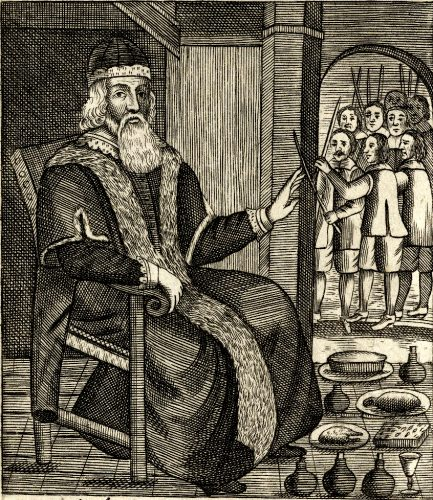Old Father Christmas In: King, J. (1687). The examination and tryal of old Father Christmas ... Written according to legal proceeding, by Josiah King. London: Printed for Charles Brome, at the Gun at the West End of S. Pauls.
