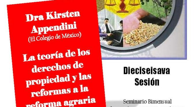Seminario bimestral «Lo común, lo privado, lo público. Dinámicas de los derechos de propiedad en México y América Central, siglos XIX-XXI»