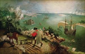La chute d'Isard, attribué à Peter Brueghel l'ancien, 1583