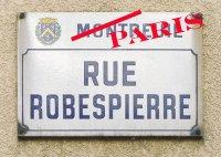 détournement plaque rue Robespierre