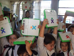 One Laptop per Child Uruguay kids Banner