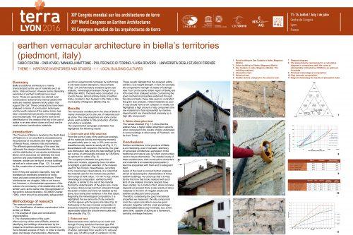 Earthen vernacular architecture in Biella's territories (Piedmont, Italy) FRATINI FABIO ; MATTONE MANUELA ; ROVERO LUISA