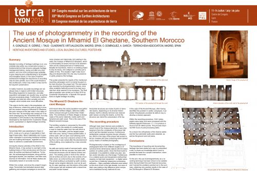 Structural assessment of the old mosque of M'Hamid El Ghizlane, Southern Morocco GONZALEZ A. ; GORRIZ R. ; TAUS I.