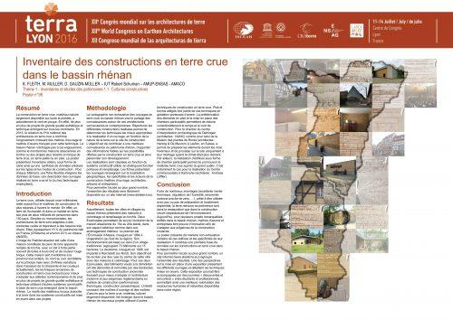 Inventaire des constructions en terre crue dans le bassin rhénan FLEITH K. ; MULLER M. ; GAUZIN-MÜLLER D.