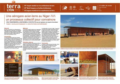 Une aérogare acier-terre au Niger: un processus collectif pour convaincre. VANDEMEEREN Odile, BEMBELLO Omar