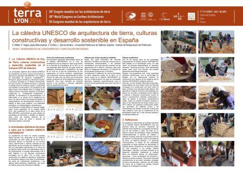La cátedra unesco de arquitectura de tierra, culturas constructivas y desarrollo sostenible en España. MILETO, VEGAS-MANZANARES ET CRISTINI