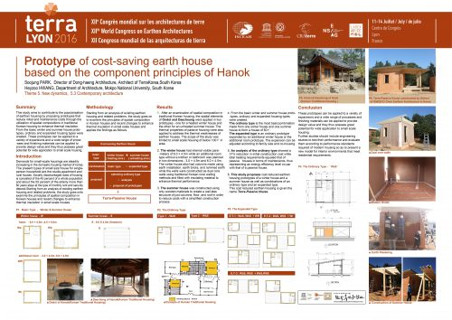 Prototype of cost-saving earth house based on the component principles of Hanok (Traditional Korean Housing). PARK Soojung & HWANG Heyzoo