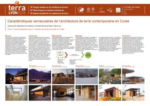 Caractéristiques vernaculaires de l'architecture de terre contemporaine en Corée