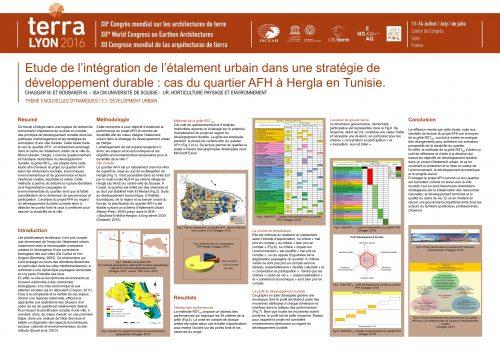 Etude de l'intégration de l'étalement urbain dans une stratégie de développement durable : cas du quartier AFH à Hergla en Tunisie. CHAGGAR MERIEM & BOUBAKER MOHSEN