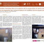 L'administration française face à la relance de la construction en terre crue : entre aspirations écologiques des consommateurs et modèles économiques concurrents. VILLAIN Victor