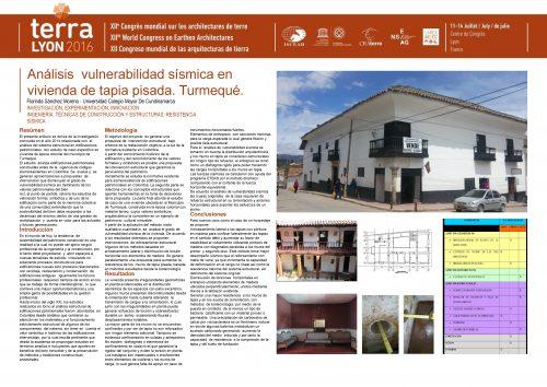 Análisis vulnerabilidad sísmica en vivienda de tapia pisada. Turmequé. SANCHEZ MORENO Florinda