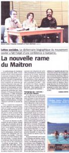 La nouvelle rame de Maitron