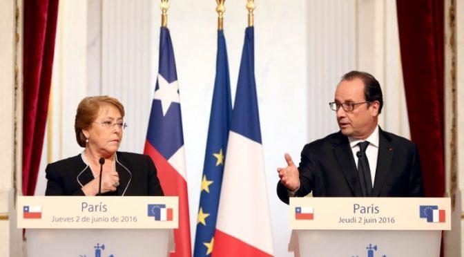 Déclaration conjointe François Hollande avec Michelle Bachelet
