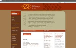 Capture d\'écran du site de la RAE