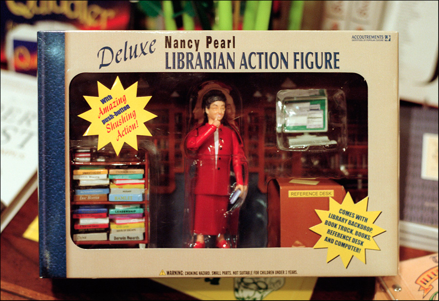 Librarian action figure - Central Library, Los Ageles, CA