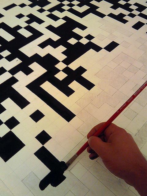 Painting QR code, Patrice de Nola (CC BY-SA 2.0)