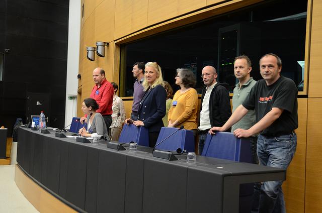 Journées Médici 2014 à Strasbourg  : le comité d'organisation à la tribune