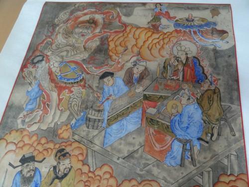 L'officiant taoïste et ses musiciens