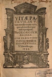 Frontispice de l'édition de Georg Meier, préfacée par Martin Luther (Wittenberg, 1544)